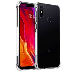 Silikon Schutzhülle Ultra Dünn Tasche Durchsichtig Transparent T04 für Xiaomi Mi 8 Klar