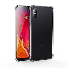 Silikon Schutzhülle Ultra Dünn Tasche Durchsichtig Transparent T04 für Xiaomi Mi 8 Screen Fingerprint Edition Schwarz