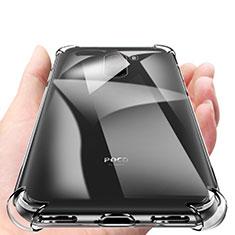Silikon Schutzhülle Ultra Dünn Tasche Durchsichtig Transparent T04 für Xiaomi Pocophone F1 Klar