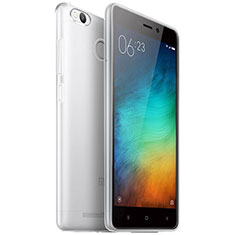Silikon Schutzhülle Ultra Dünn Tasche Durchsichtig Transparent T04 für Xiaomi Redmi 3 Pro Klar