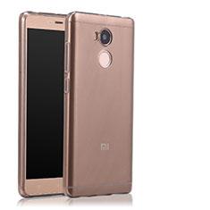 Silikon Schutzhülle Ultra Dünn Tasche Durchsichtig Transparent T04 für Xiaomi Redmi 4 Prime High Edition Grau