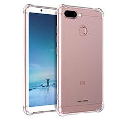 Silikon Schutzhülle Ultra Dünn Tasche Durchsichtig Transparent T04 für Xiaomi Redmi 6 Klar