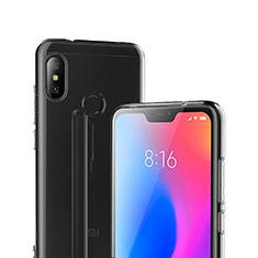 Silikon Schutzhülle Ultra Dünn Tasche Durchsichtig Transparent T04 für Xiaomi Redmi 6 Pro Klar