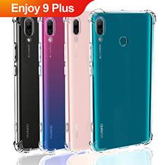 Silikon Schutzhülle Ultra Dünn Tasche Durchsichtig Transparent T05 für Huawei Enjoy 9 Plus Klar