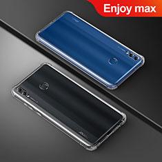 Silikon Schutzhülle Ultra Dünn Tasche Durchsichtig Transparent T05 für Huawei Enjoy Max Klar