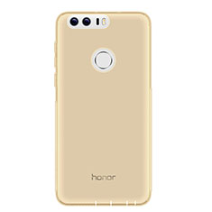 Silikon Schutzhülle Ultra Dünn Tasche Durchsichtig Transparent T05 für Huawei Honor 8 Grau