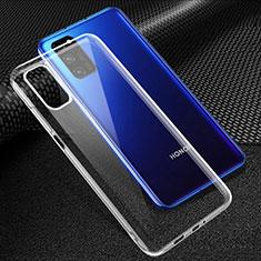 Silikon Schutzhülle Ultra Dünn Tasche Durchsichtig Transparent T05 für Huawei Honor V30 Pro 5G Klar
