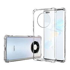 Silikon Schutzhülle Ultra Dünn Tasche Durchsichtig Transparent T05 für Huawei Mate 40 Pro Klar