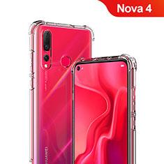 Silikon Schutzhülle Ultra Dünn Tasche Durchsichtig Transparent T05 für Huawei Nova 4 Klar