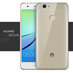 Silikon Schutzhülle Ultra Dünn Tasche Durchsichtig Transparent T05 für Huawei Nova Grau