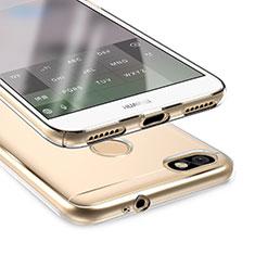 Silikon Schutzhülle Ultra Dünn Tasche Durchsichtig Transparent T05 für Huawei Y6 Pro (2017) Klar
