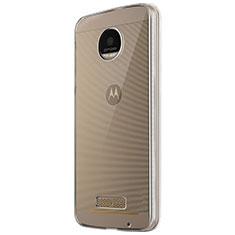 Silikon Schutzhülle Ultra Dünn Tasche Durchsichtig Transparent T05 für Motorola Moto Z Play Klar