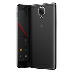 Silikon Schutzhülle Ultra Dünn Tasche Durchsichtig Transparent T05 für OnePlus 3 Grau