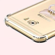 Silikon Schutzhülle Ultra Dünn Tasche Durchsichtig Transparent T05 für Samsung Galaxy C7 Pro C7010 Grau
