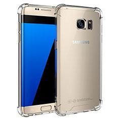 Silikon Schutzhülle Ultra Dünn Tasche Durchsichtig Transparent T05 für Samsung Galaxy S7 Edge G935F Klar