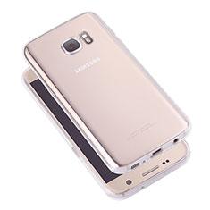 Silikon Schutzhülle Ultra Dünn Tasche Durchsichtig Transparent T05 für Samsung Galaxy S7 G930F G930FD Klar