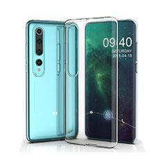 Silikon Schutzhülle Ultra Dünn Tasche Durchsichtig Transparent T05 für Xiaomi Mi 10 Klar