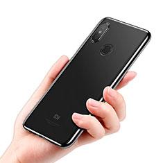Silikon Schutzhülle Ultra Dünn Tasche Durchsichtig Transparent T05 für Xiaomi Mi 8 SE Schwarz