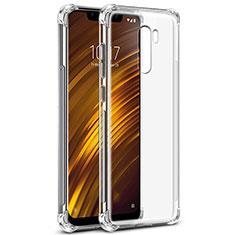 Silikon Schutzhülle Ultra Dünn Tasche Durchsichtig Transparent T05 für Xiaomi Pocophone F1 Klar