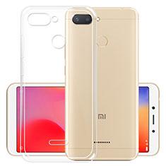 Silikon Schutzhülle Ultra Dünn Tasche Durchsichtig Transparent T05 für Xiaomi Redmi 6 Klar