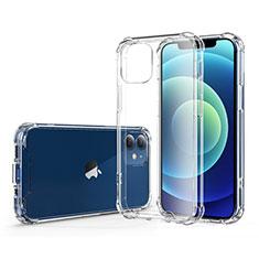 Silikon Schutzhülle Ultra Dünn Tasche Durchsichtig Transparent T06 für Apple iPhone 12 Mini Klar