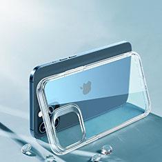 Silikon Schutzhülle Ultra Dünn Tasche Durchsichtig Transparent T06 für Apple iPhone 12 Pro Max Klar