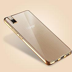 Silikon Schutzhülle Ultra Dünn Tasche Durchsichtig Transparent T06 für Huawei Honor 7i shot X Gold