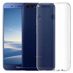Silikon Schutzhülle Ultra Dünn Tasche Durchsichtig Transparent T06 für Huawei Honor 8 Pro Klar