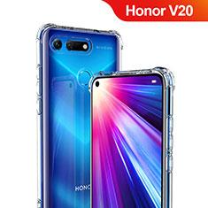 Silikon Schutzhülle Ultra Dünn Tasche Durchsichtig Transparent T06 für Huawei Honor V20 Klar