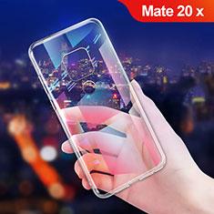 Silikon Schutzhülle Ultra Dünn Tasche Durchsichtig Transparent T06 für Huawei Mate 20 X 5G Klar