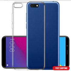 Silikon Schutzhülle Ultra Dünn Tasche Durchsichtig Transparent T06 für Huawei Y5 (2018) Klar