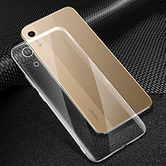 Silikon Schutzhülle Ultra Dünn Tasche Durchsichtig Transparent T06 für Huawei Y6 (2019) Klar