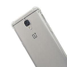 Silikon Schutzhülle Ultra Dünn Tasche Durchsichtig Transparent T06 für OnePlus 3 Grau