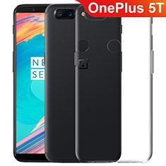Silikon Schutzhülle Ultra Dünn Tasche Durchsichtig Transparent T06 für OnePlus 5T A5010 Klar