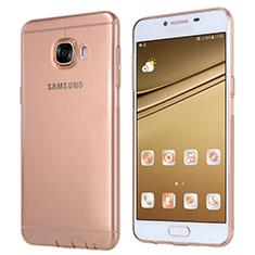 Silikon Schutzhülle Ultra Dünn Tasche Durchsichtig Transparent T06 für Samsung Galaxy C7 SM-C7000 Gold