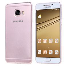 Silikon Schutzhülle Ultra Dünn Tasche Durchsichtig Transparent T06 für Samsung Galaxy C7 SM-C7000 Klar