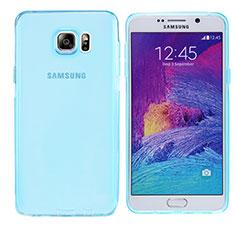 Silikon Schutzhülle Ultra Dünn Tasche Durchsichtig Transparent T06 für Samsung Galaxy Note 5 N9200 N920 N920F Blau