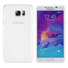 Silikon Schutzhülle Ultra Dünn Tasche Durchsichtig Transparent T06 für Samsung Galaxy Note 5 N9200 N920 N920F Weiß