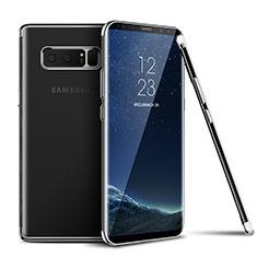Silikon Schutzhülle Ultra Dünn Tasche Durchsichtig Transparent T06 für Samsung Galaxy Note 8 Silber