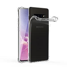 Silikon Schutzhülle Ultra Dünn Tasche Durchsichtig Transparent T06 für Samsung Galaxy S10 Klar
