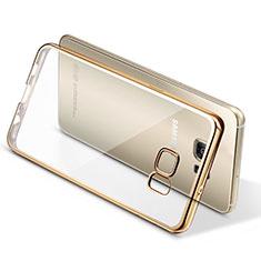 Silikon Schutzhülle Ultra Dünn Tasche Durchsichtig Transparent T06 für Samsung Galaxy S7 Edge G935F Gold