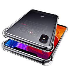 Silikon Schutzhülle Ultra Dünn Tasche Durchsichtig Transparent T06 für Xiaomi Mi 8 Pro Global Version Klar
