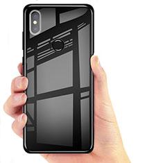 Silikon Schutzhülle Ultra Dünn Tasche Durchsichtig Transparent T06 für Xiaomi Mi 8 Schwarz