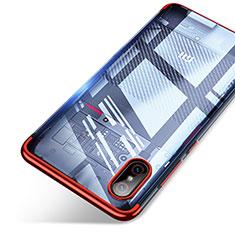 Silikon Schutzhülle Ultra Dünn Tasche Durchsichtig Transparent T06 für Xiaomi Mi 8 Screen Fingerprint Edition Rot