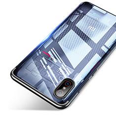 Silikon Schutzhülle Ultra Dünn Tasche Durchsichtig Transparent T06 für Xiaomi Mi 8 Screen Fingerprint Edition Schwarz