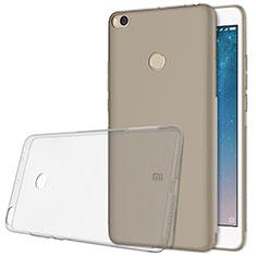 Silikon Schutzhülle Ultra Dünn Tasche Durchsichtig Transparent T06 für Xiaomi Mi Max 2 Grau