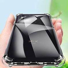 Silikon Schutzhülle Ultra Dünn Tasche Durchsichtig Transparent T06 für Xiaomi Mi Mix 3 Klar