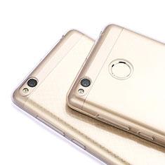 Silikon Schutzhülle Ultra Dünn Tasche Durchsichtig Transparent T06 für Xiaomi Redmi 3X Grau