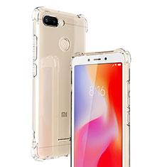 Silikon Schutzhülle Ultra Dünn Tasche Durchsichtig Transparent T06 für Xiaomi Redmi 6 Klar