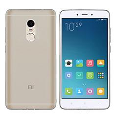 Silikon Schutzhülle Ultra Dünn Tasche Durchsichtig Transparent T06 für Xiaomi Redmi Note 4 Grau